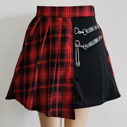 Asymmetric Grunge Aesthetic Skirt