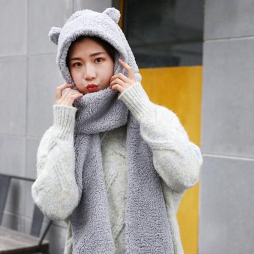 Cute Bear Scarf-Hat
